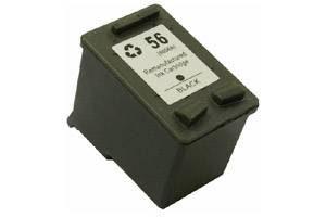6656 črna kompatibilna kartuša za HP 21 ml