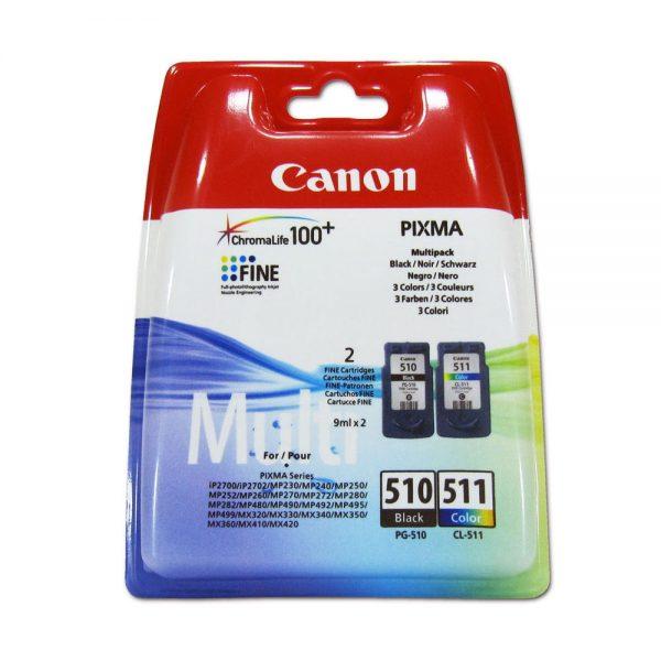 Canon PG510 Black CL511 Colour Ink Cartridge